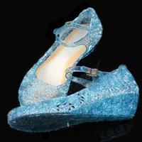 รองเท้า-Frozen-Cinderella-princess-รุ่นรังนก-สีฟ้า
