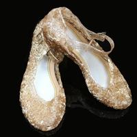 รองเท้า-Frozen-Cinderella-princess-รังนก-สีน้ำตาล