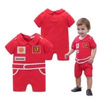 ชุดบอดี้สูท-หนูน้อยนักซิ่ง-Ferrari-สีแดง