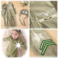 ชุดบอดี้สูท-นักบินกัปตันอวกาศ-สีเขียวขี้ม้า