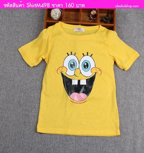 เสื้อยืดหนูน้อย ลาย SpongeBob สีเหลือง