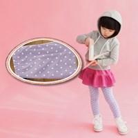 กางเกงเลกกิ้งเด็ก-Double-Dots-Cute-สีม่วง