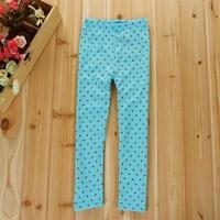 กางเกงเลกกิ้งเด็ก-Double-Dots-Cute-สีฟ้า