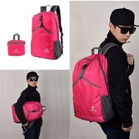 กระเป๋าเป้พับได้-Backpack-Shoulder-bag-สีชมพู