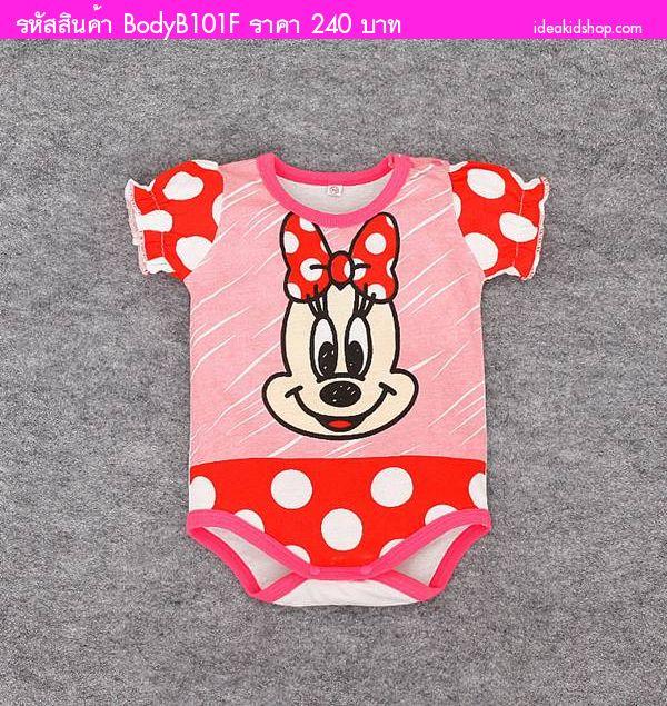 บอดี้สูทหนูน้อย Minnie Mouse สีแดง
