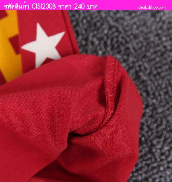 เสื้อยืดเด็ก DOUBLE.B MASKMAN สีแดง