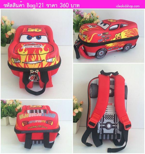 กระเป๋าสะพายหลัง McQueen สีแดง
