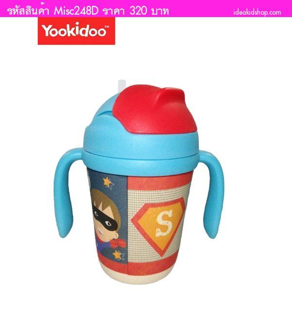 แก้วน้ำเด็ก Straw Cup ECO ลาย Superman