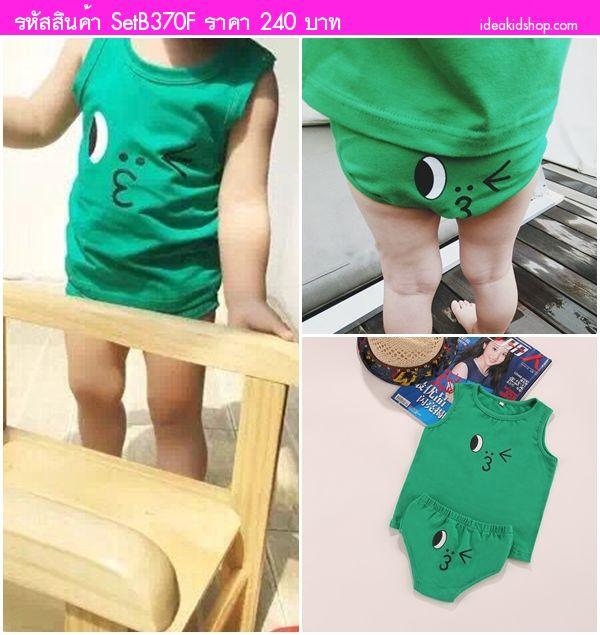 ชุดเสื้อกล้ามกางเกงในเด็ก Line Leonard สีเขียว