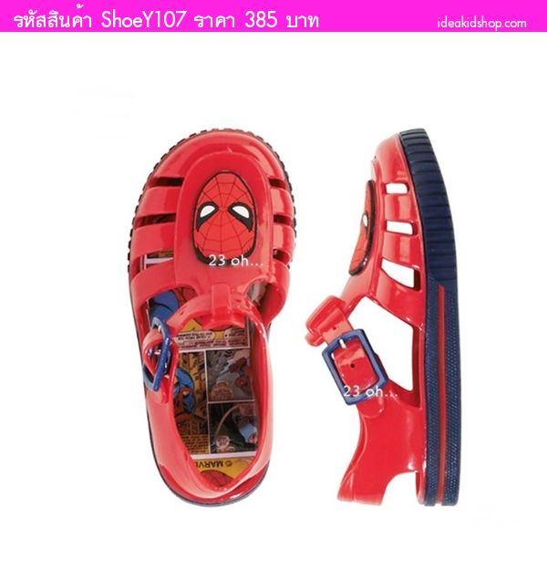 รองเท้ายางรัดส้น Spider Man สีแดง