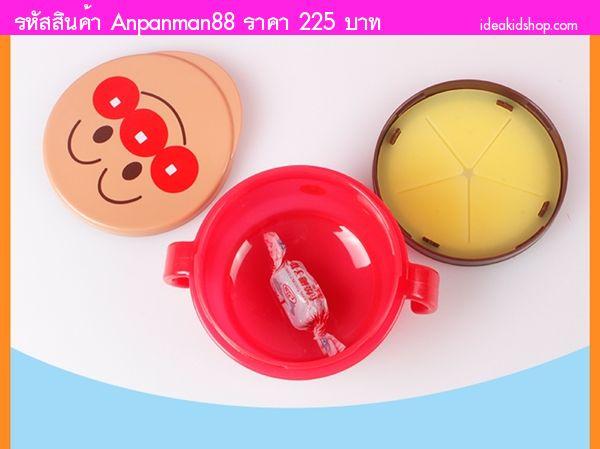 ถ้วยกันขนมหก Snack Box Anpanman สีแดง