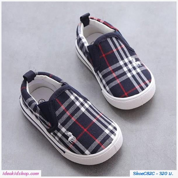 รองเท้าผ้าใบ Canvas Burberry สีกรม