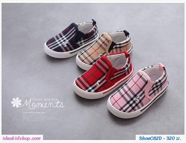 รองเท้าผ้าใบ Canvas Burberry สีแดง