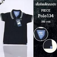 เสื้อโปโลคอปก-PIECI-สีดำกรม