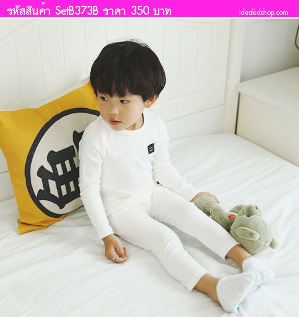 ชุดเสื้อกางเกง หรือ ชุดนอนเด็ก IM Sweet สีขาว