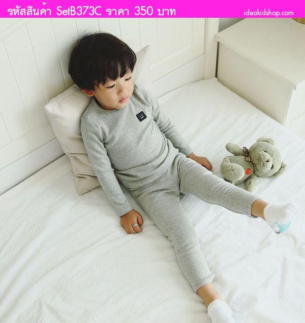 ชุดเสื้อกางเกง หรือ ชุดนอนเด็ก IM Sweet สีเทา