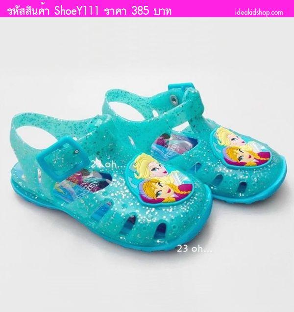 รองเท้ายางรัดส้นเจ้าหญิง Frozen สีฟ้า