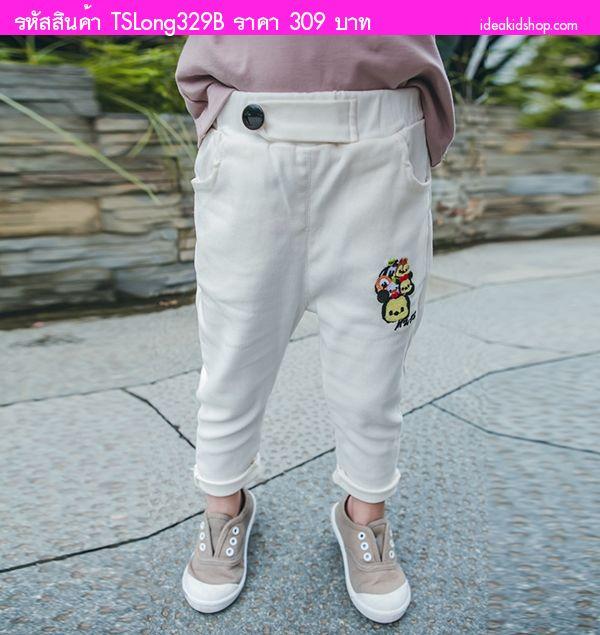 กางเกงขายาว Mickey Mouse and Friends สีขาว