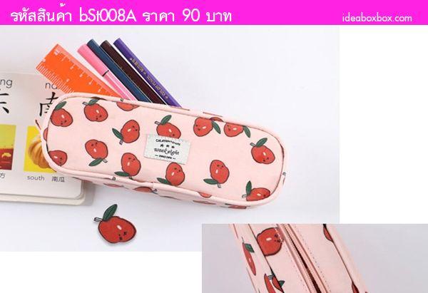 กระเป๋าใส่ดินสอ Multi Functional Stationery สีชมพู