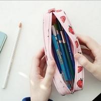 กระเป๋าใส่ดินสอ-Multi-Functional-Stationery-สีชมพู