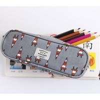 กระเป๋าใส่ดินสอ-Multi-Functional-Stationery-สีเทา