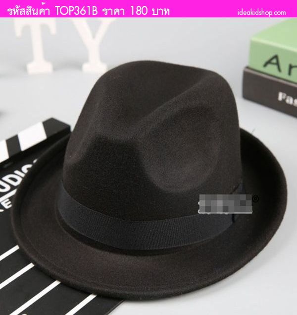 หมวกปานามาแฟชั่นสุดฮิต สีดำ