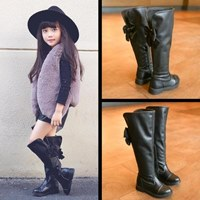 รองเท้าบูทสูงหนังนิ่ม-Tall-Boots-Classy-สีดำ
