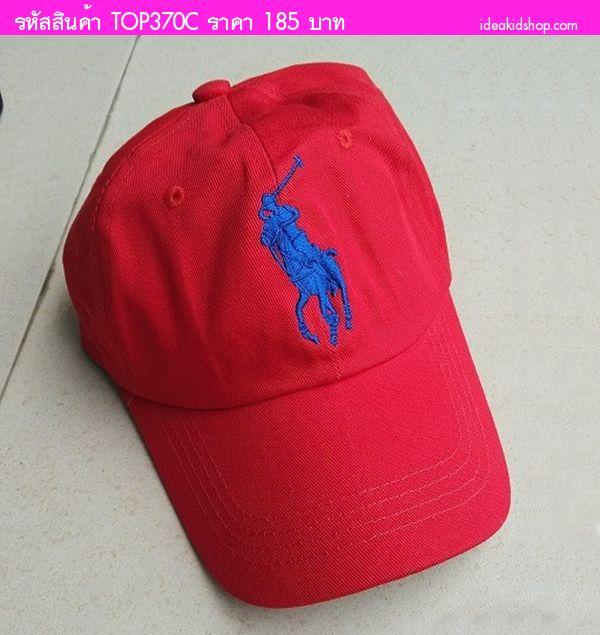 หมวกแก๊ป POLO สุดเท่ V.2 สีแดง