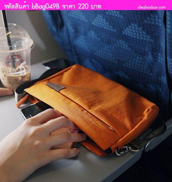 กระเป๋าสะพายไหล่แฟชั่น WeekEight สีส้ม