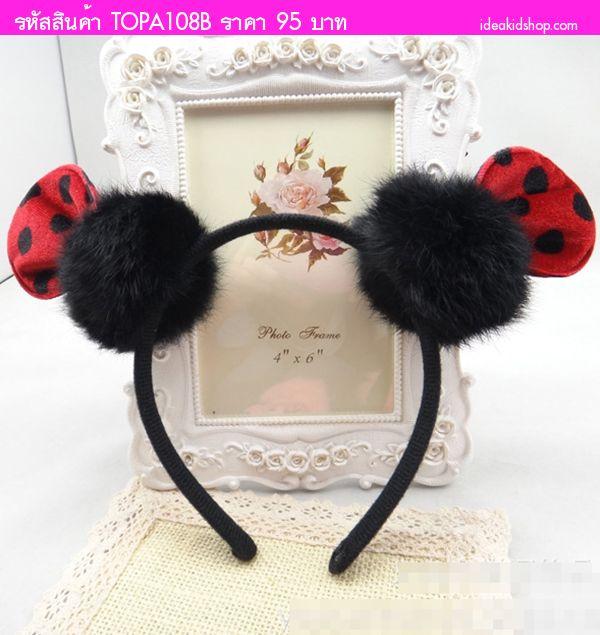ที่คาดผมหู Minnie Mouse ลายจุด สีแดง