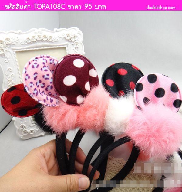 ที่คาดผมหู Minnie Mouse ลายจุด สีม่วง