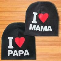 หมวกเด็ก-I-LOVE-MAMA-and-Pap-สีดำ(2-ใบ)