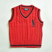 เสื้อสเวตเตอร์-Polo-By-Ralph-Lauren-คอวี-สีแดง