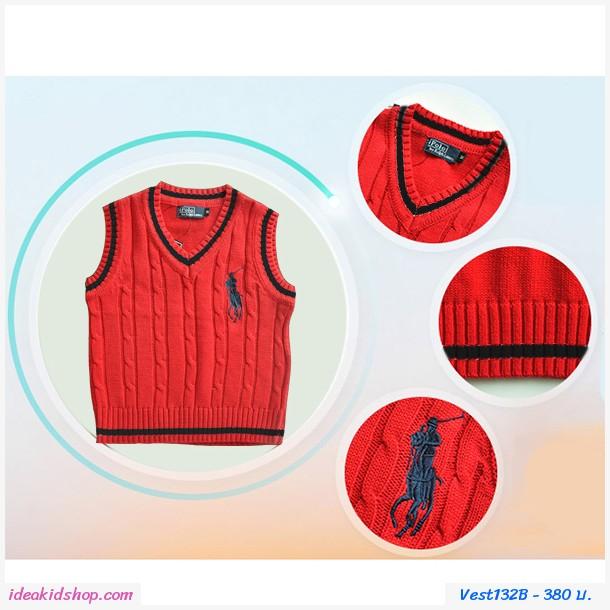 เสื้อสเวตเตอร์ Polo By Ralph Lauren คอวี สีกรมดำ