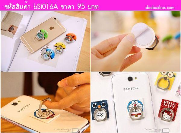 แหวนตั้งโทรศัพท์ Minions and Doraemon (ได้ 2 ชิ้น)
