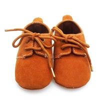 รองเท้าหัดเดินสไตล์คุณหนู-มีเชือกผูก-สีน้ำตาล