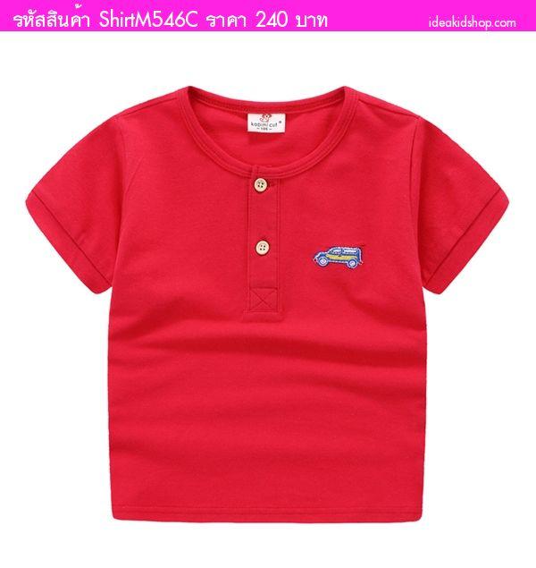 เสื้อยืดเด็กเท่เท่ ซุปเปอร์คาร์ สีแดง