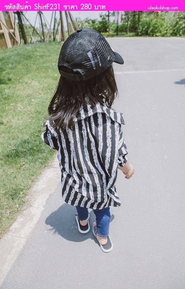 เสื้อคลุมแฟชั่นหน้าสั้นหลังยาว ผ้าชีฟอง สีดำ