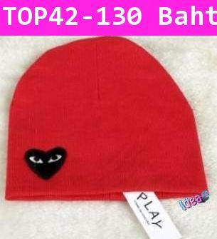 หมวก Play Comme สีแดง