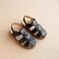 รองเท้าเด็กรัดส้นสไตล์เกาหลีตัว-X-สีดำ