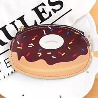 กระเป๋าใส่เหรียญ-Donut-สีน้ำตาลช็อกโกแล็ต