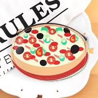 กระเป๋าใส่เหรียญ-Pizza-สีเหลืองครีม