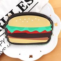 กระเป๋าใส่เหรียญ-Hamburger-สีเขียวเหลือง