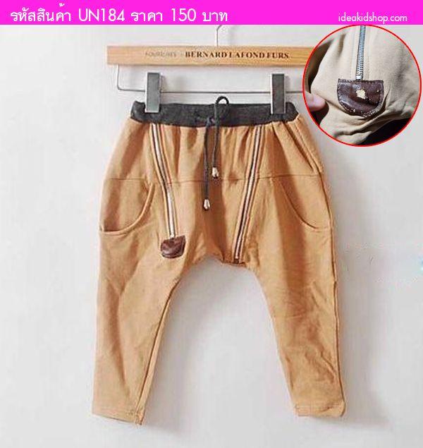 กางเกงขายาว Zipzy Brown สีน้ำตาล (ตำหนิ)