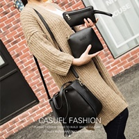 กระเป๋าสะพาย-Classic-Fashion-สีดำ-(ได้-3-ใบ)