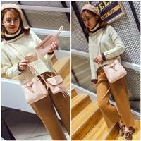 กระเป๋าสะพาย-Korean-Fashion-สีชมพู(ได้-4-ใบ)