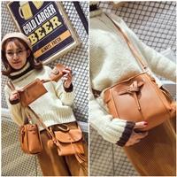 กระเป๋าสะพาย-Korean-Fashion-สีน้ำตาล(ได้-4-ใบ)