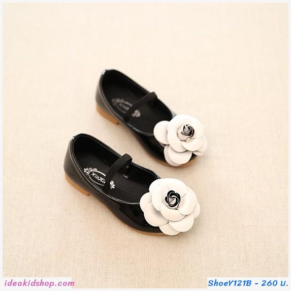 รองเท้าคัทชูแฟชั่น ดอกคามิเลีย Cnl สีดำ