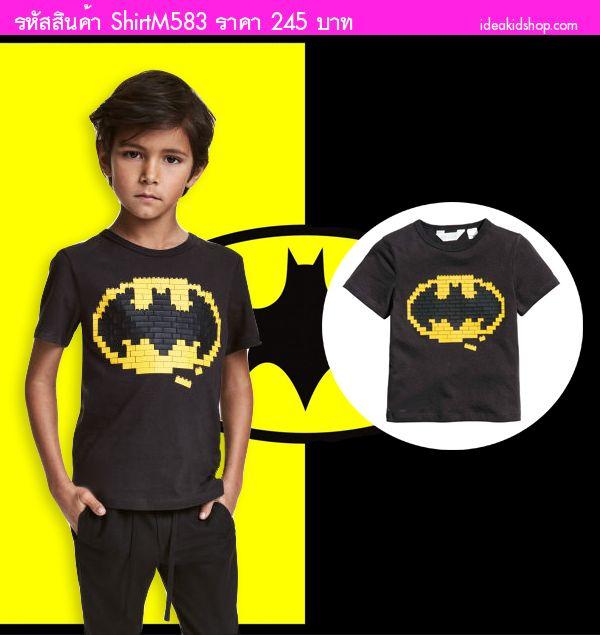 เสื้อยืดแฟชั่นสุดเท่ Batman Lego สีดำ