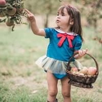บอดี้สูทสาว-Snow-White-Princess-สีเขียวฟ้า